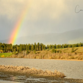 Rainbow over Otter Lake, Armstrong, BC