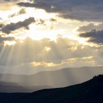 Spilling light. Sun setting, shot from the Allan Brooks Nature Centre, Vernon, BC