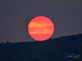 Sunset during wildfire season, shot from Vernon, BC