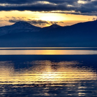 Sunset on Okanagan Lake, Okanagan Indian Band Priest's Valley I.R. No. 6, Kin Beach, Vernon, BC