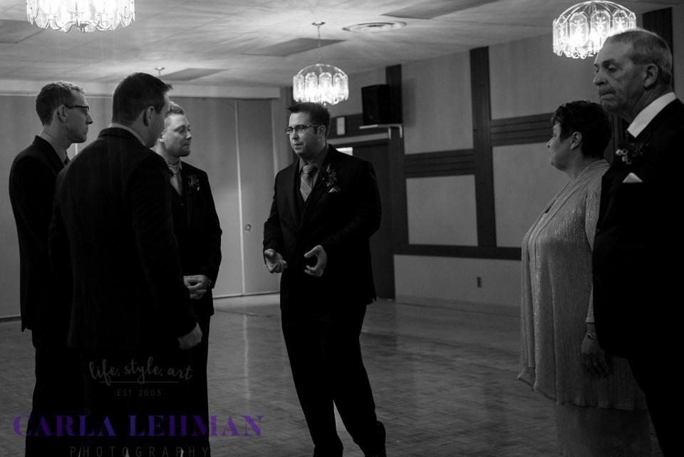 Behind the scenes before this Camrose wedding