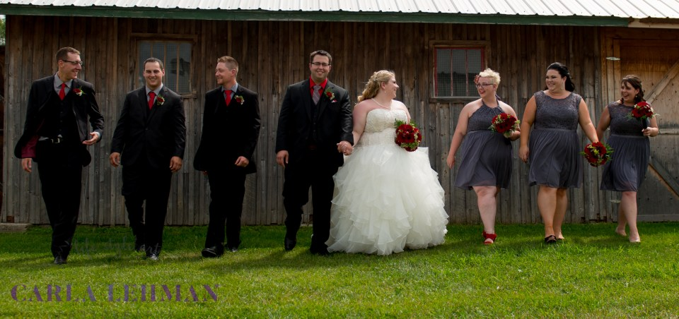 Bridal party antics at Camrose