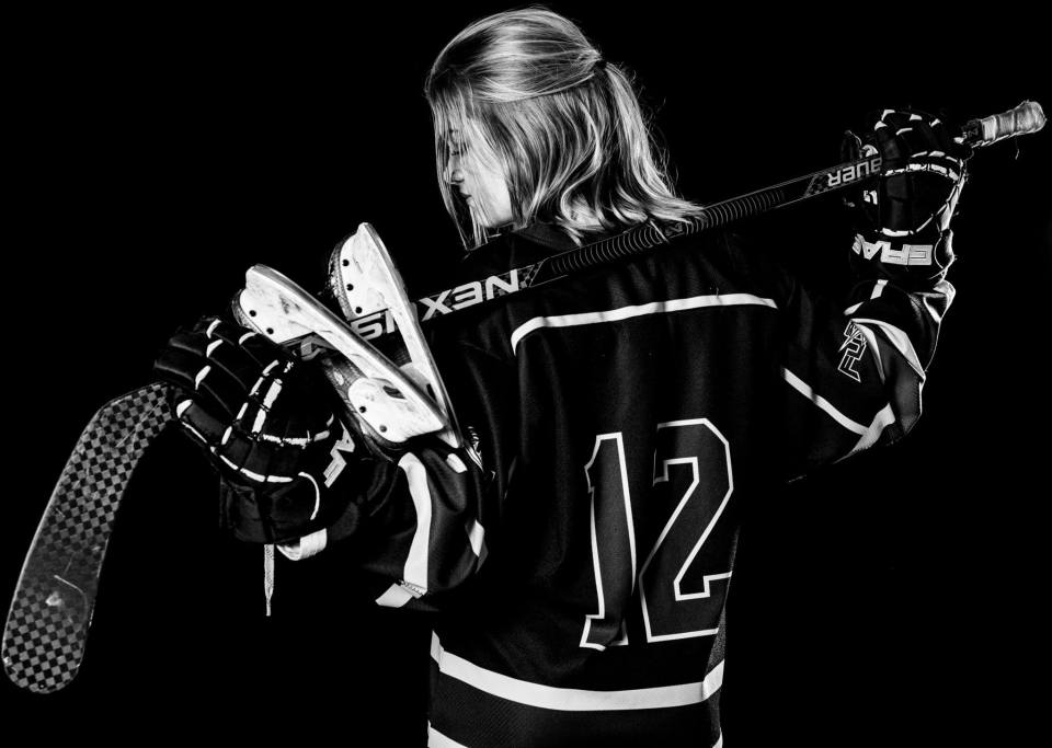 Sherwood Park Female Hockey Player Senior Lifestyle Session