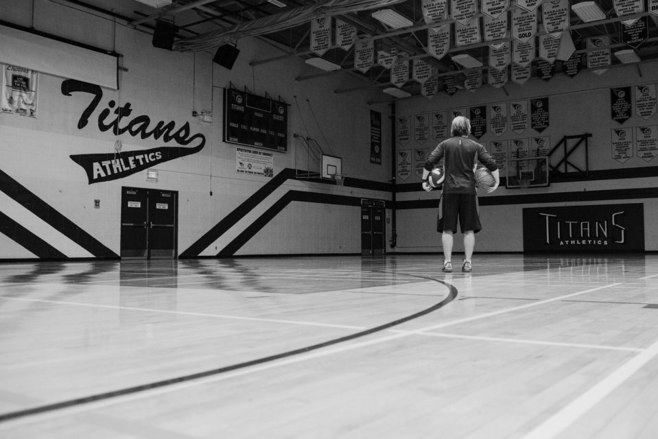 The gym is the loudest place in the school, today it is quiet and lonely Documentary Photo Essay