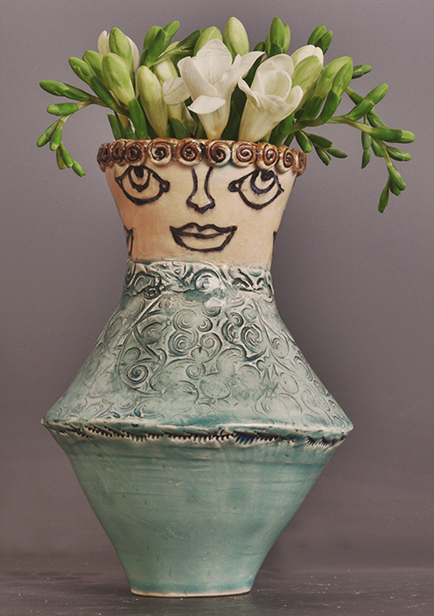 Celadon glazed flower vase