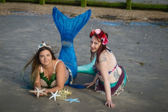 Louise and Carla - mermaids by Jo Jackson Photography