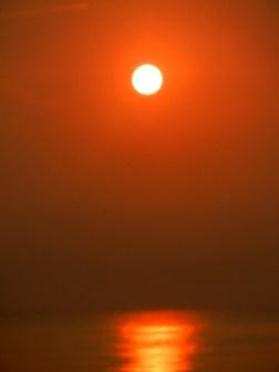 Sunrise view from Cherating beach