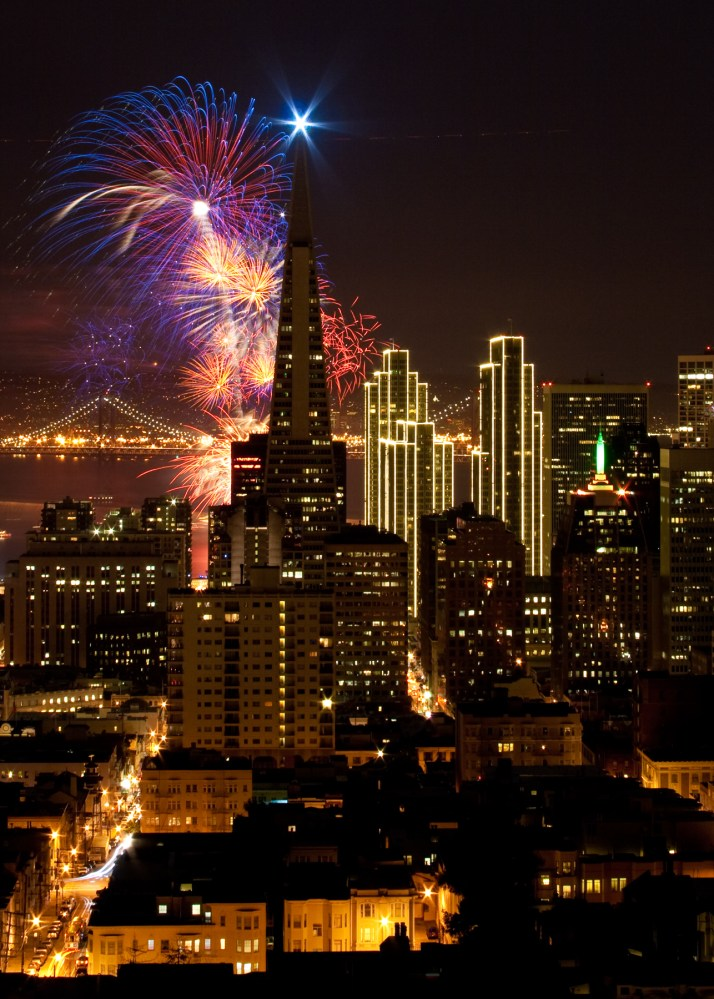 San Francisco Skyline - New Years Eve