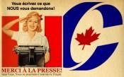 La propagande du journal La Presse