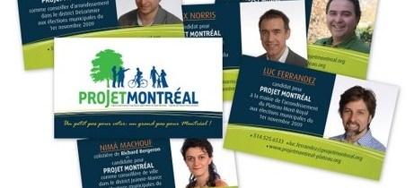 Les cartes d'affaires de Projet Montréal pour la prochaine élection