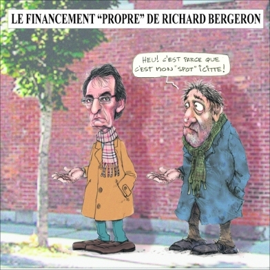 "Le financement ""propre"" de Richard Bergeron"