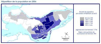 la densité à Montréal
