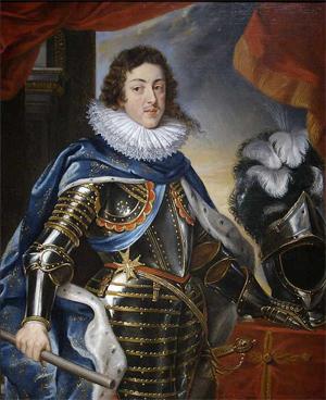 Louis XIII (1610-1643) portant une fraise