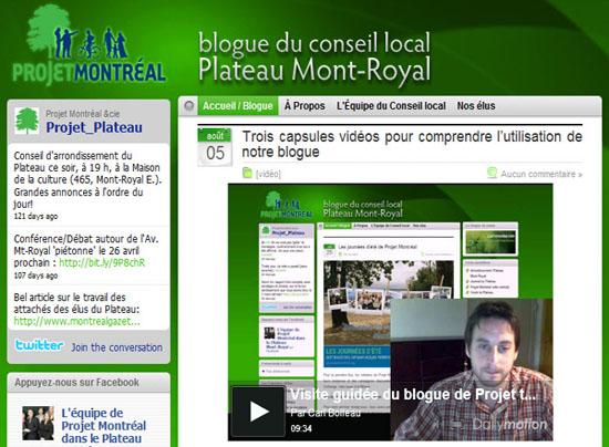le blogue de Projet Montréal dans le Plateau