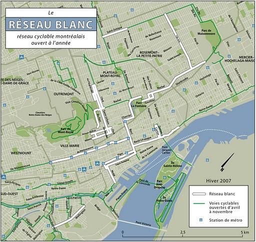 le réseau blanc de Montréal
