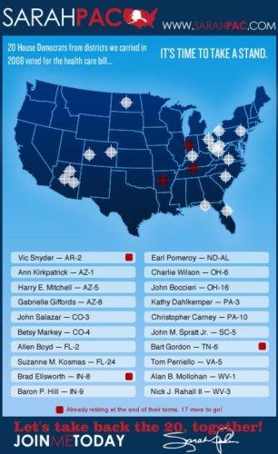 cibles électorales de Sarah Palin