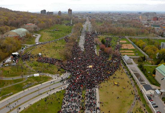 22 AVRIL - 300 000 Québécois rassemblés pour le bien commun!
