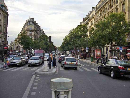trafic rue Magenta coin Place de la République