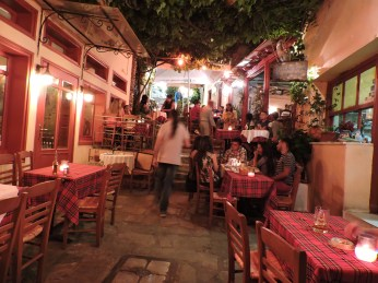 Our favorite open-air restaurant, in the arts district Plaka, where we live.