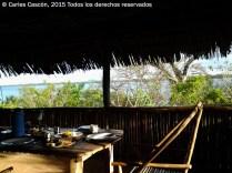 Vista desde el comedor del Blue Monkey Cottage