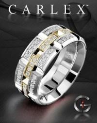 Men's High End Wedding Rings - Designer Diamond Rings for Men