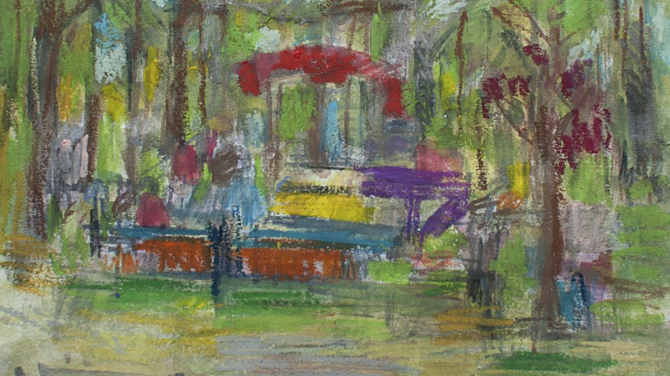 Sketchbook: Through the Trees at Rhodes Rites to Play