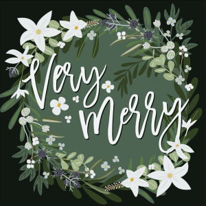 Spreading the Holiday spirit with a little floral fun.