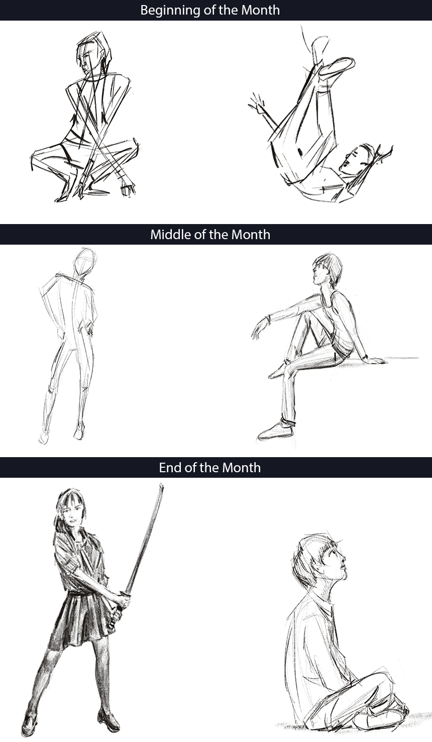 Practicing Gesture Drawing on an Ipad