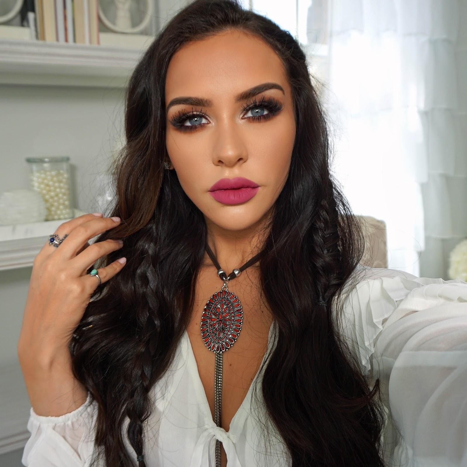 BOHO CHIC Makeup & Hair Tutorial
