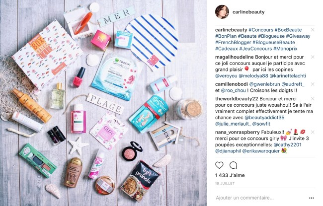 probleme commentaire instagram concours