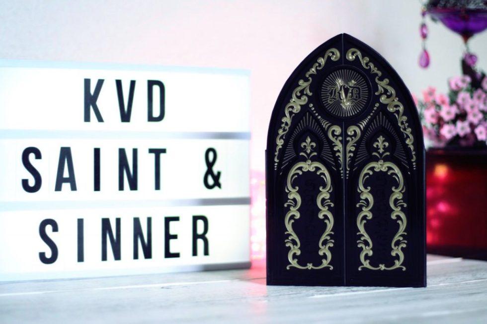 palette saint + sinner kat von d avis et swatch saint & sinner