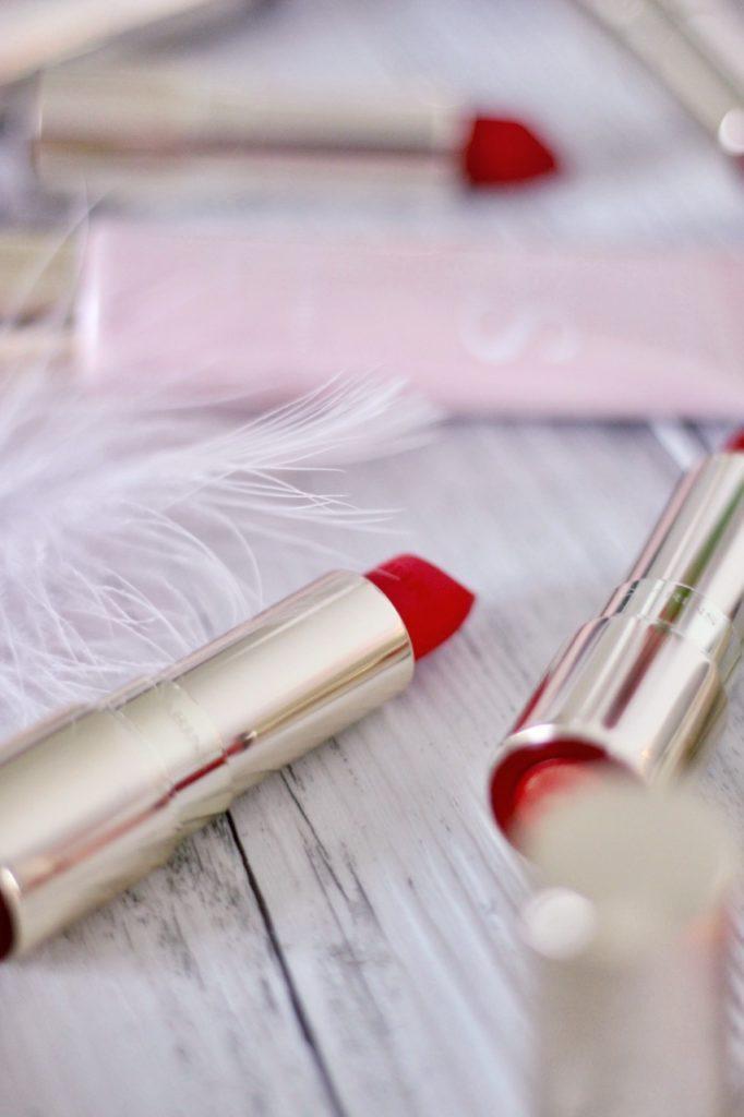 joli rouge velvet mat clarins avis swatch