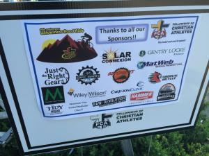 The ride has ample support from sponsors.