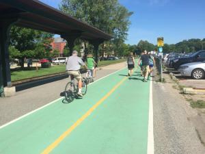 The busy Burlington Bikepath