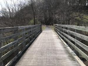 A Virginia Creeper Trail bridge.