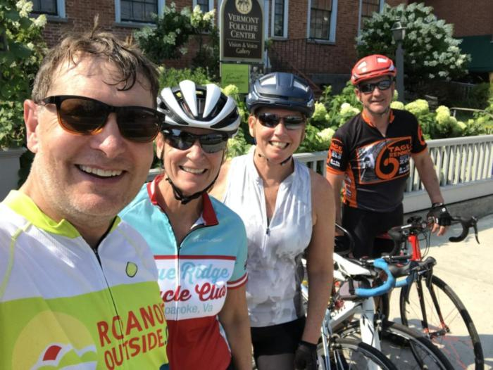 It was all smiles when we stopped for treats in Middlebury.