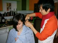 Me Cutting Margaret's Hair 2K8 03