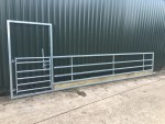 20ft Sheep / Cattle Feed Barrier with Pedestrian Door