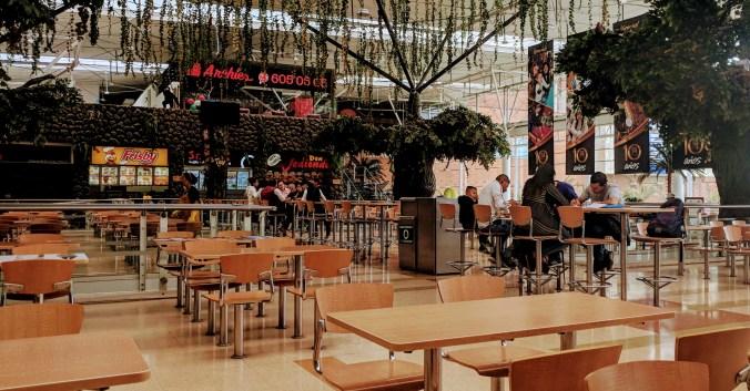 Food court at Hayuelos mall, Modelia, Bogota