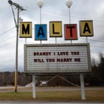 The Malta Drive-In marquee. Click here for the full story with more photos.