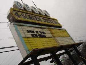 Getty Drive-In marquee