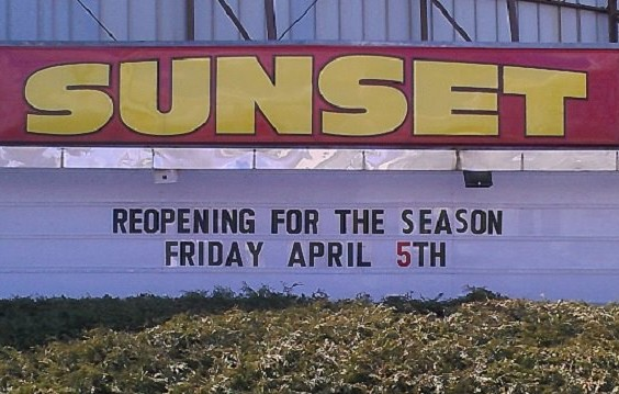Sunset Drive-In marquee