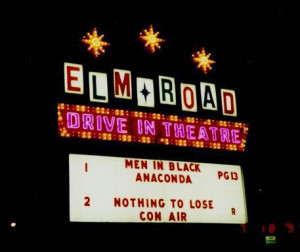 Elm Road Drive-In marquee