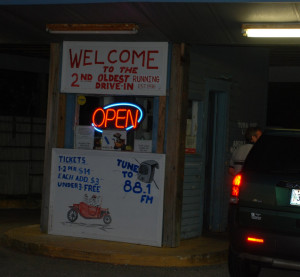 Saco Drive-In ticket booth