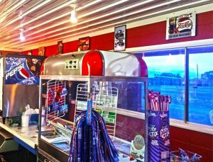 Snack bar at the American Dream Drive-In