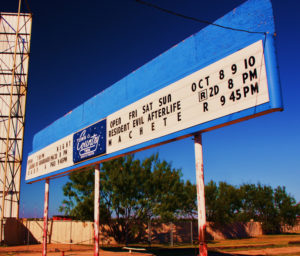 Town and Country Drive-In marquee