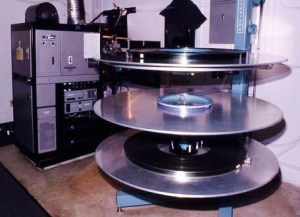 Large film projector reels