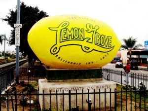 Giant lemon statue