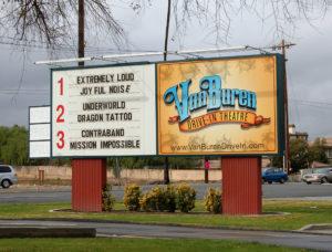 Van Buren Drive-In marquee