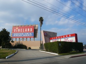 Vineland Drive-In marquee and main screen